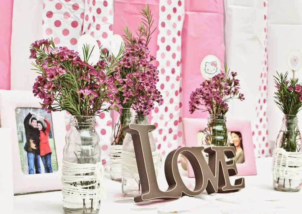 Pink Wedding Shower Flowers Decoration Ideas