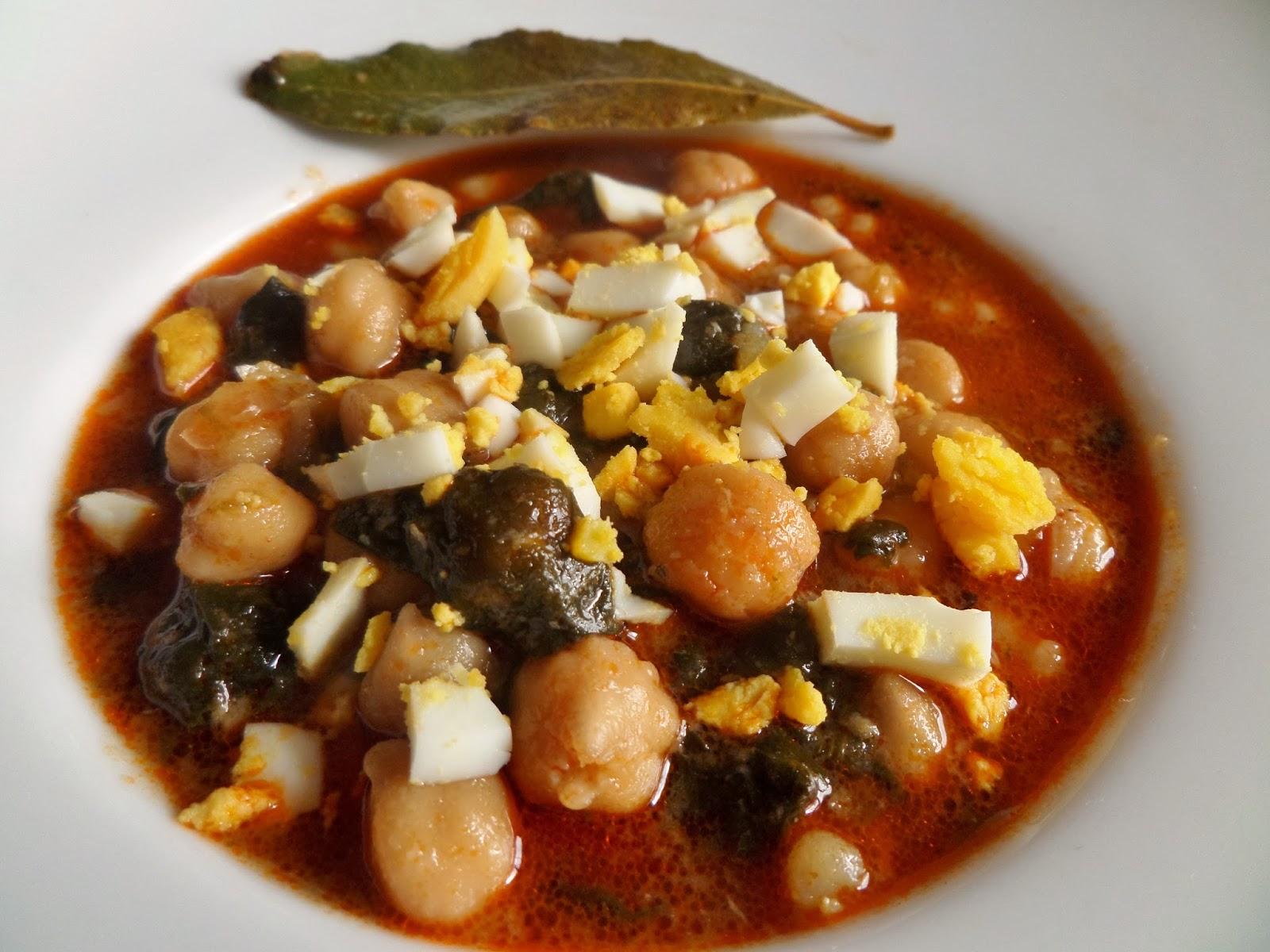 Aprendiendo a cocinar guiso de garbanzos con espinacas for Cocinar garbanzos