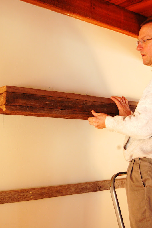 How to Make Barn Wood Floating Shelves