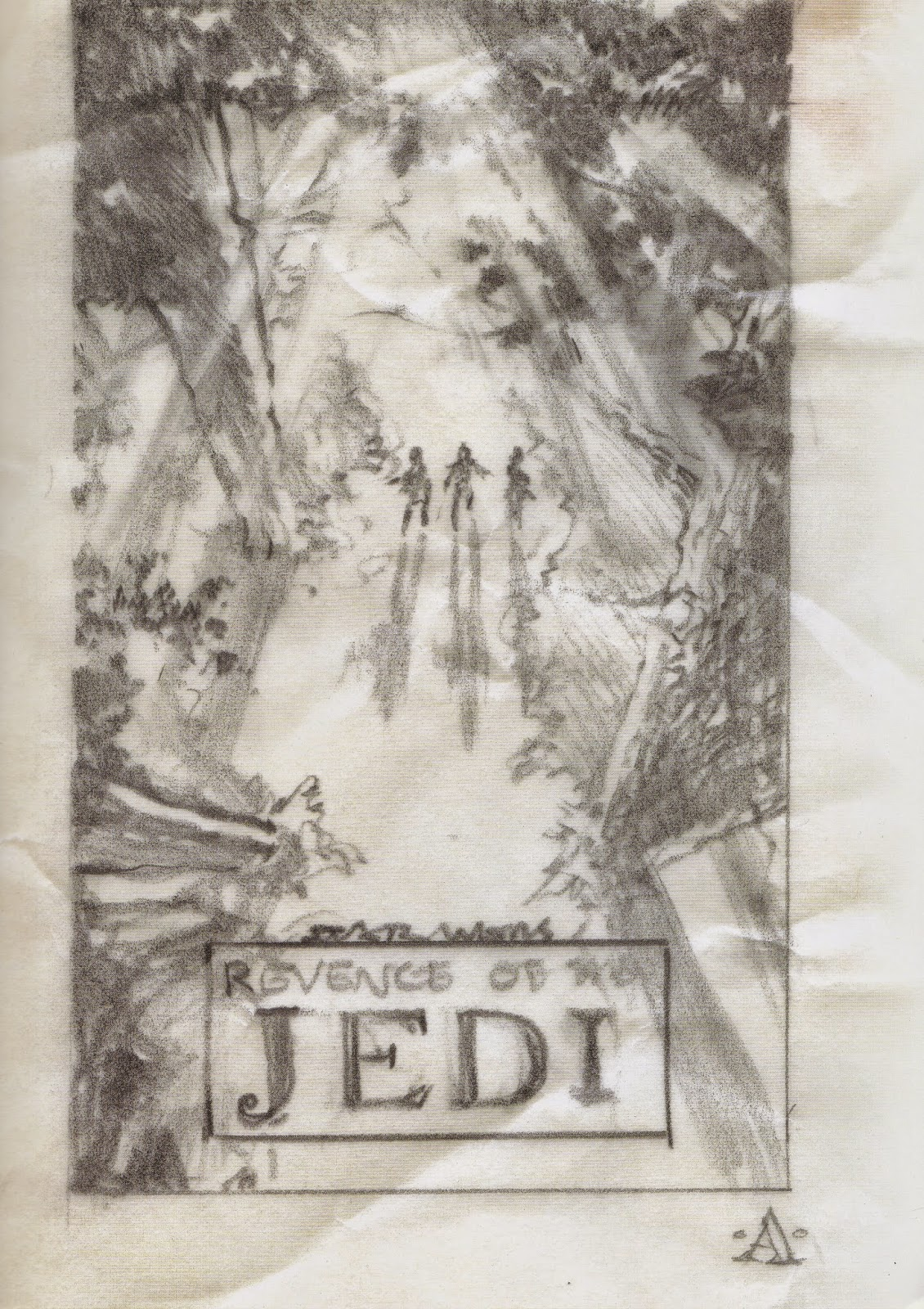 revenge of the jedi concept artwork