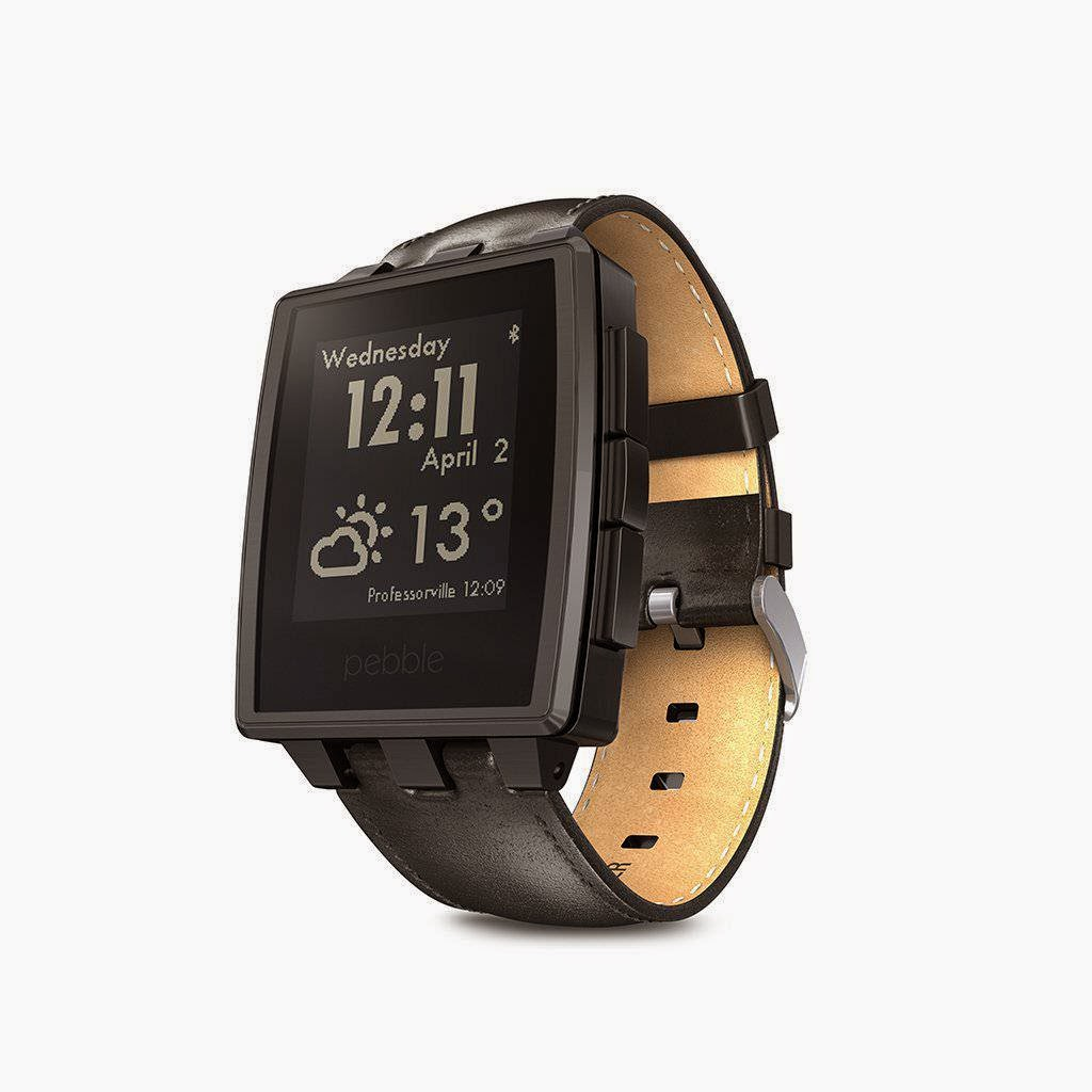 Pebble Steel Smart Watch for iPhone and Android Devices (Black Matte)