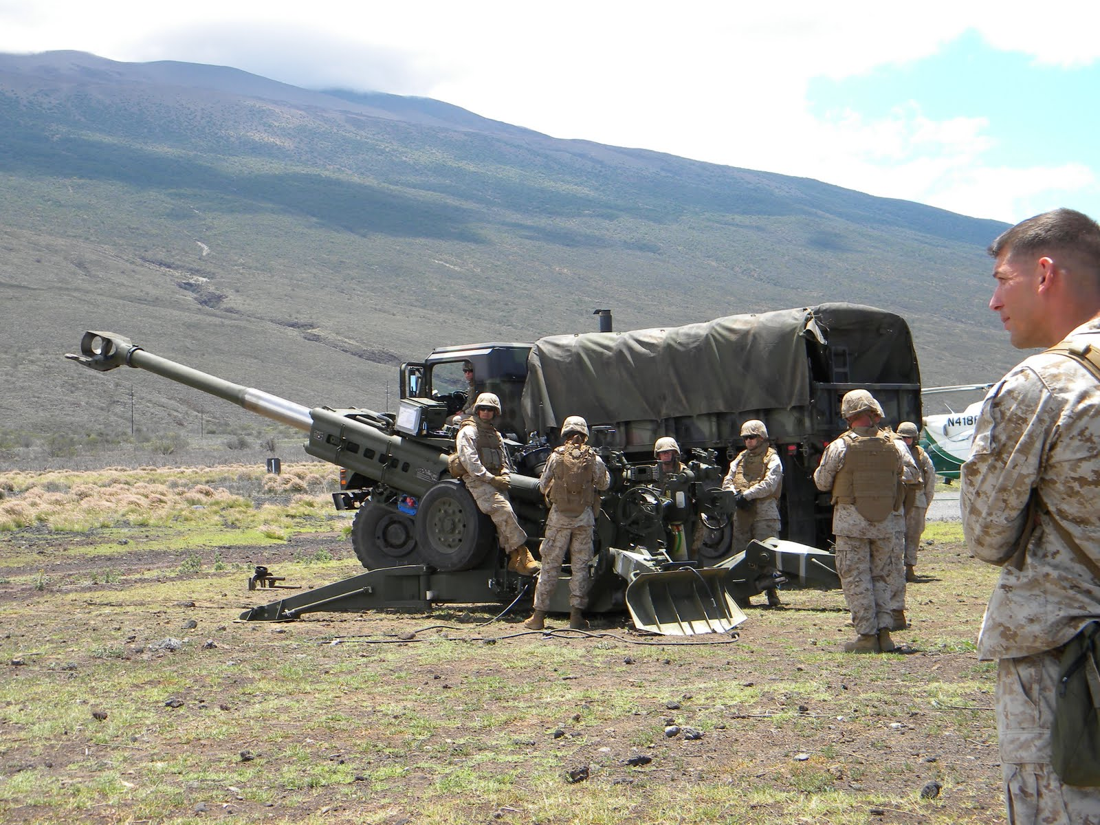 Marines at Pohakuloa Training