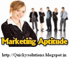 Marketing aptitude 2013