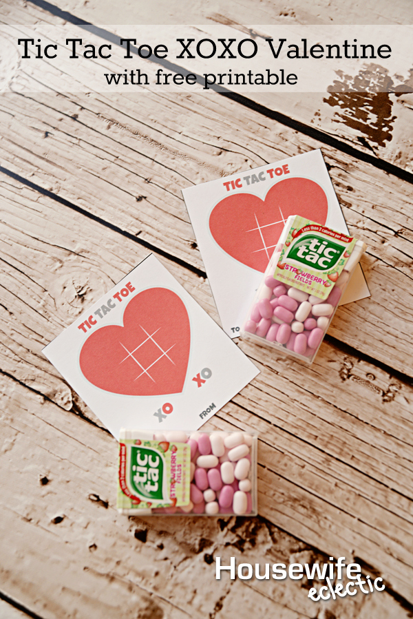 picture regarding Tic Tac Toe Valentine Printable called Tic Tac Toe XOXO Valentine with Free of charge Printable - Housewife