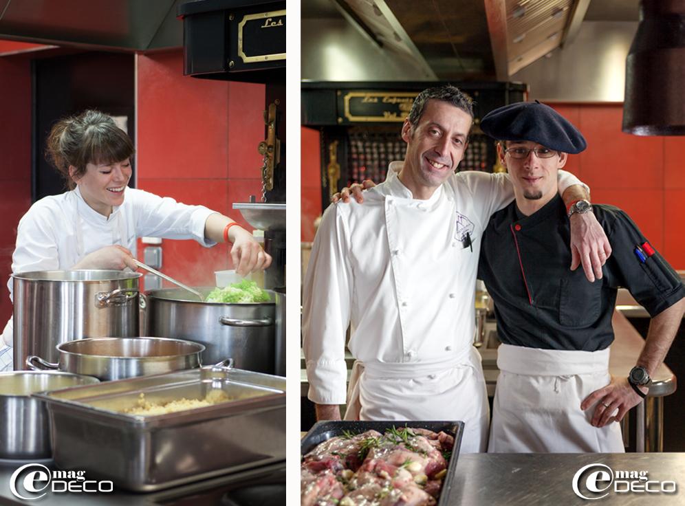 Le chef Lionel Arnoux du restaurant 'Les Enfants Terribles' du palace 'Altapura' à Val Thorens