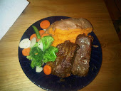 Churrasco, Sweet Potato and Veggies