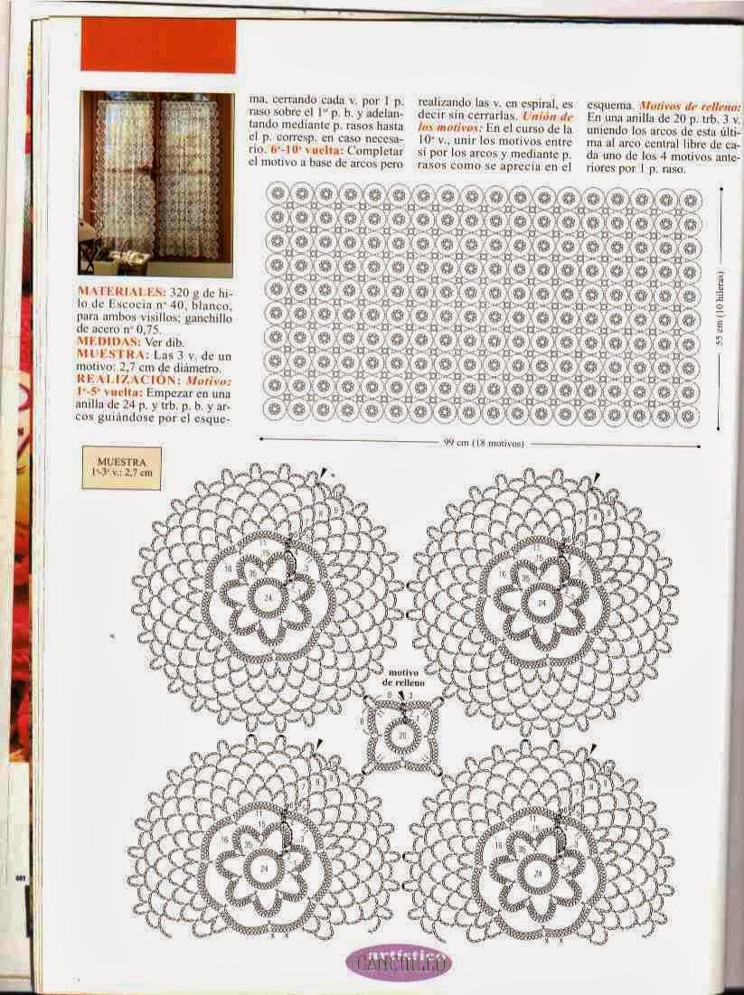 Cenefas Cocina Crochet Patrones Gratis Imagui - Patrones De Cortinas ...