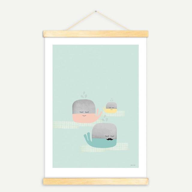 Lámina de ballenas de Mow Shop
