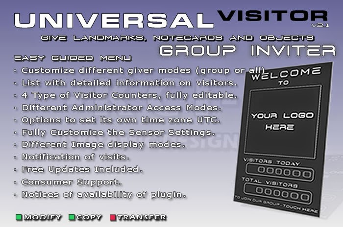 Universal Visitor Counter Manager - Automatic Group Inviter, Black Panel