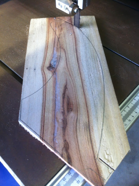 wood surfboard fin