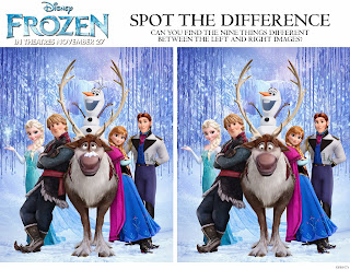 Disney FROZEN: Spot the Difference
