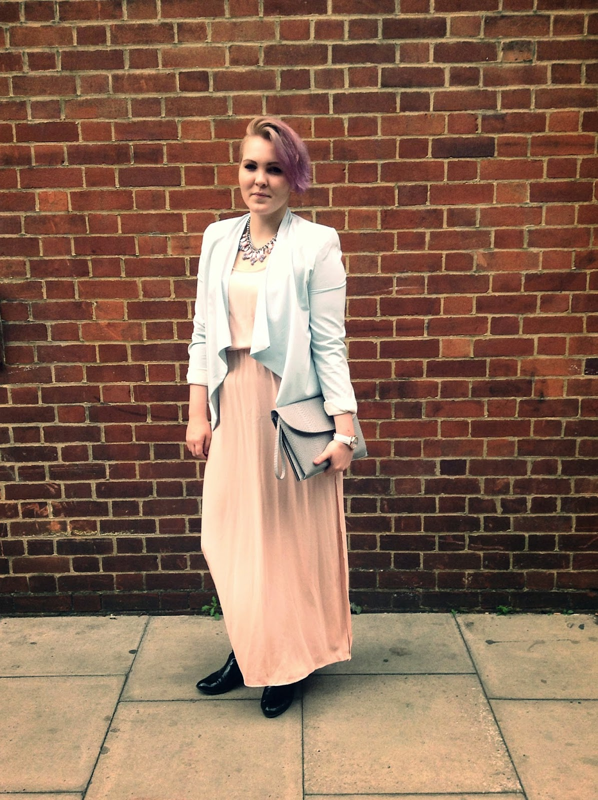 LFW street style pastel outfit christina langner