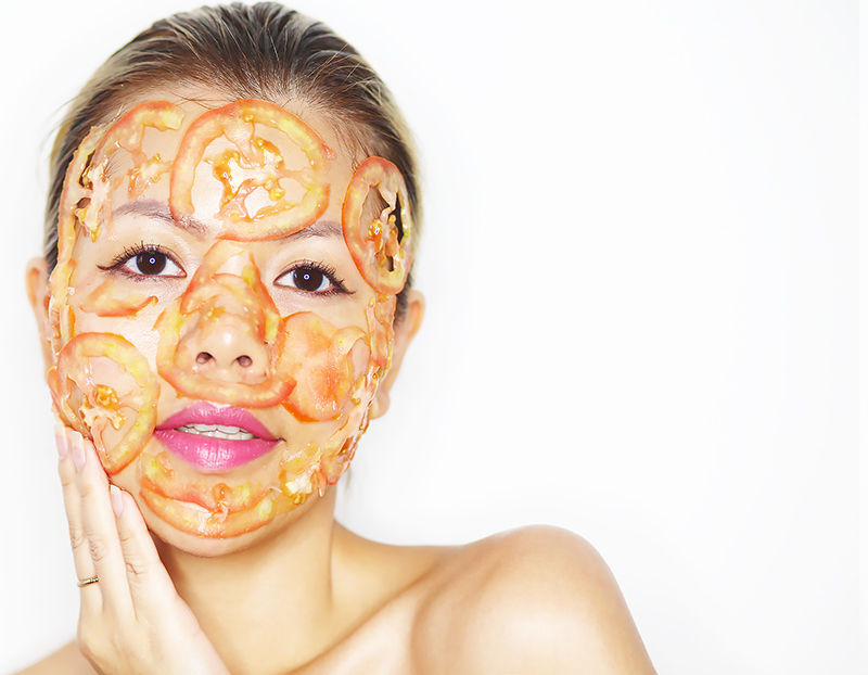 Crystal Phuong- Skincare tip- Tomato face mask