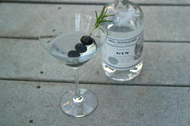 Olive Rosemary Martini