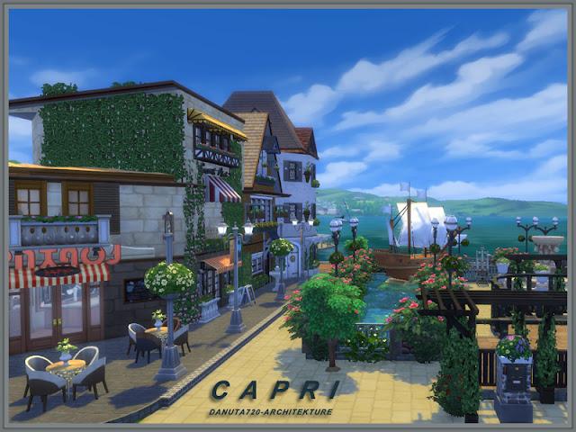 Capri Café Sims 4 House