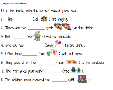 Regular Plurals worksheet and irregular plurals worksheet. These can ...