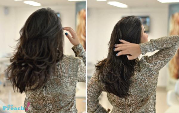 corte de cabelo desfiado em camadas