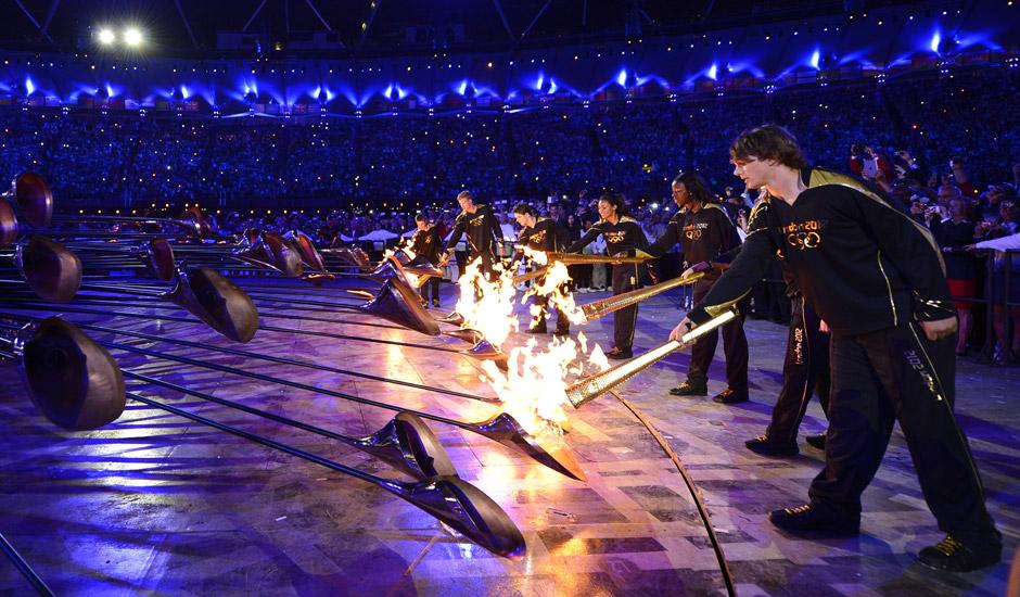 how to make an olympic cauldron