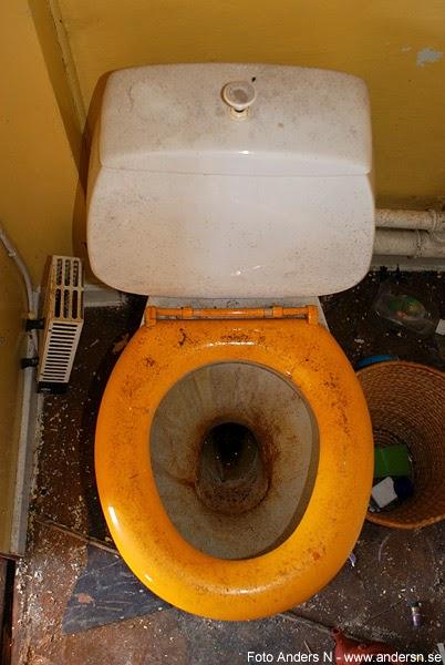 ostädad, smutsig, skitig, toalett, dirty toilet