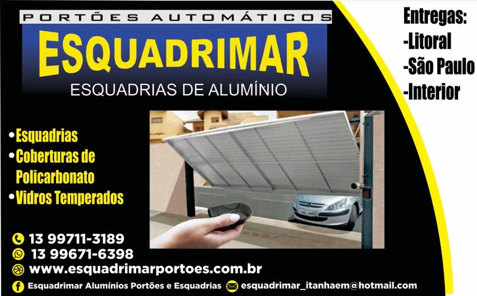 Serralheria Esquadrimar 13 996716398/981202009/ PORTÕES AUTOMÁTICOS