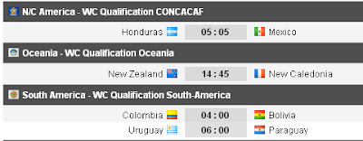 Jadwal Pertandingan Kualifikasi Piala Dunia 2014