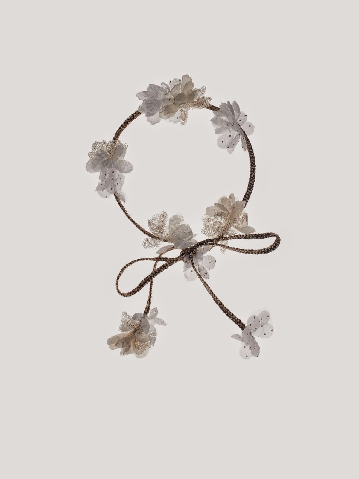 corona flores tela para niña #nanos