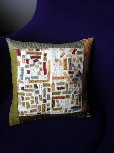 cojin de patchwork hecho por niños