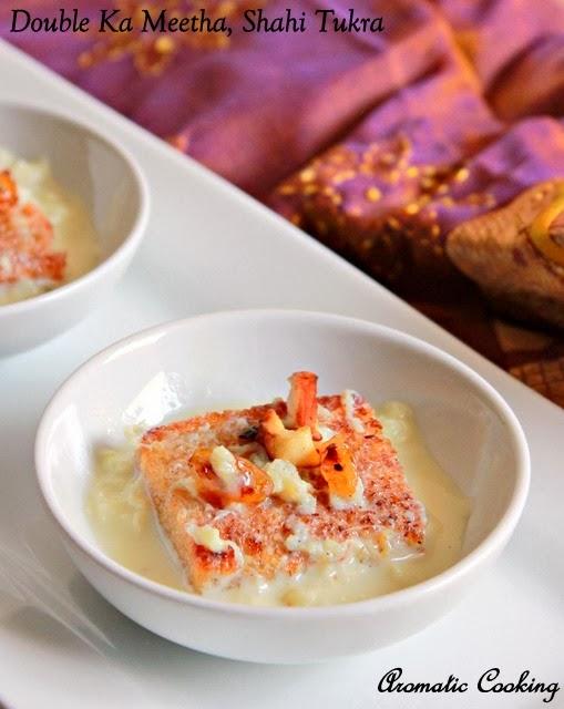 double ka meetha, shahi tukra, indian bread pudding