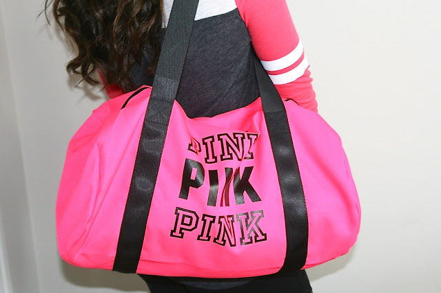 Katherine Penney Chic blogger fashion outfit sporty fitness campus rep PINK Victoria's Secret pink love freebies cute girlie