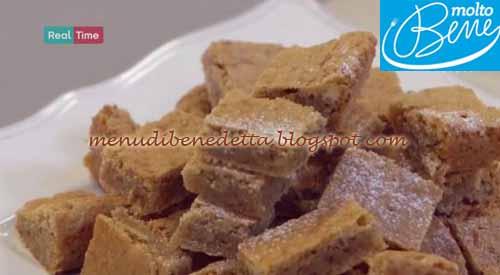Blondies ricetta Parodi per Molto Bene