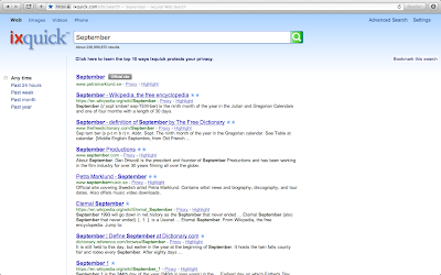Ixquick Search for 'September'