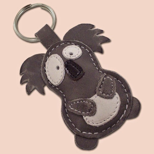 Koala Handmade Leather Keychain On Etsy