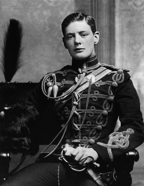 A rare shot of a young Winston Churchill