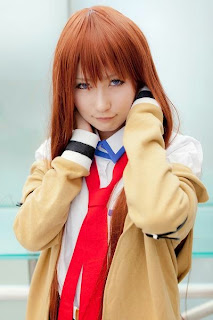 Hiokichi cosplay as Makise Kurisu from Steins;Gate