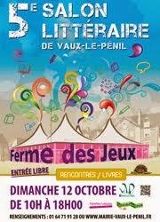 Dédicace au Salon Littéraire de Vaux-le-Pénil le 12 octobre