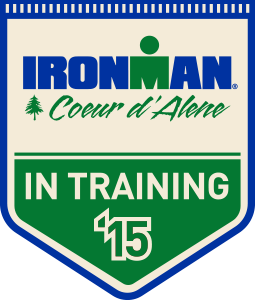 My Coeur d'Alene Ironman Training Badge