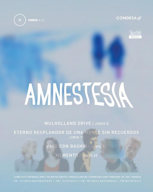 """El Cineclub Condesa presenta el ciclo """"Amnestesia"""" durante Junio"""