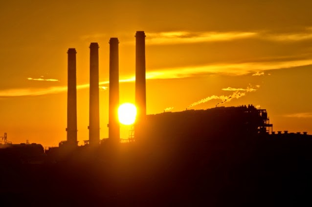 Coal plant chimneys (Credit: Shutterstock) Click to enlarge.