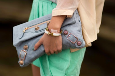 Balenciaga pastel clutch