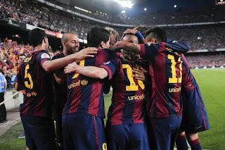 FUTBOL ESPAÑA - El Barça ya tiene el doblete