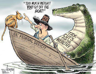 David Horsey cartoon on budget reduction