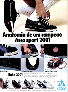 propaganda tênis Arco Sport 2001 - 1977. moda anos 70; propaganda anos 70; história da década de 70; reclames anos 70; brazil in the 70s; Oswaldo Hernandez