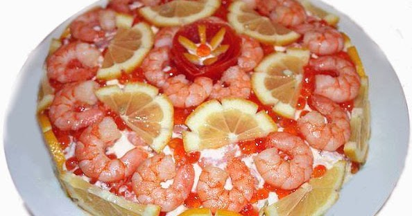 салат креветки шубой фото