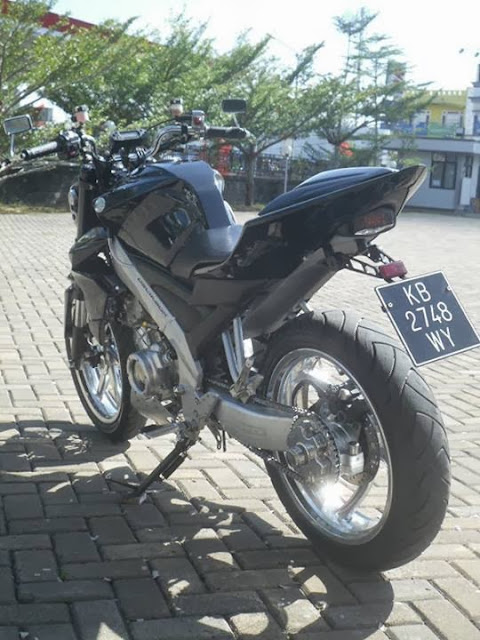 Modifikasi Yamaha Vixion Model American Streetfighter