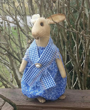 "11"" STANDING BUNNY IN BLUE"