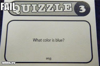 quiz question what colour is blue?
