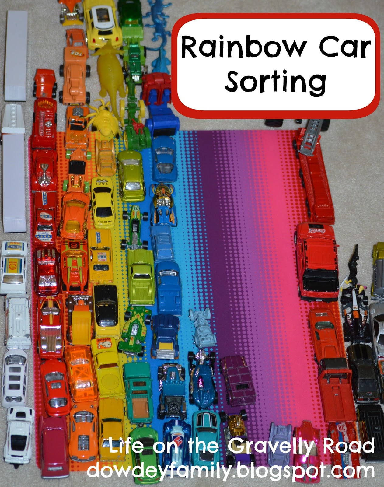 Co color in cars activity - Color Sorting And Counting With Toy Cars