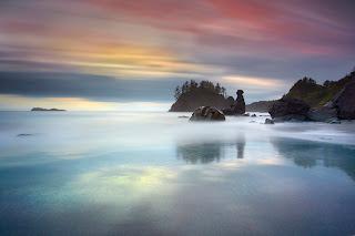 sessiz sakin deniz kenarı manzara resmi walpaper arkaplanı