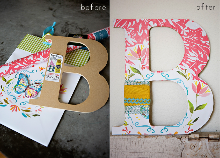 diy decorated monogram
