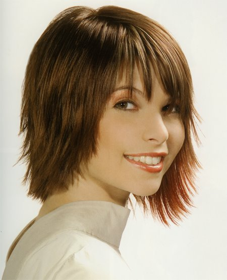 The Excellent Short Choppy Hairstyles With Bangs Image